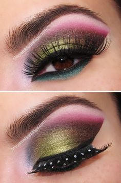"""""""80's Meets Arabic"""" I love this...give it a try...False Lashes can be found at any Beauty store at great prices!~Kimberly Robyn"""