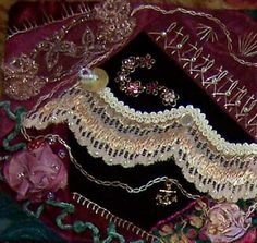 I ❤ crazy quilting, beading & ribbon embroidery . . . Sandi's block ~By Sandra Sews