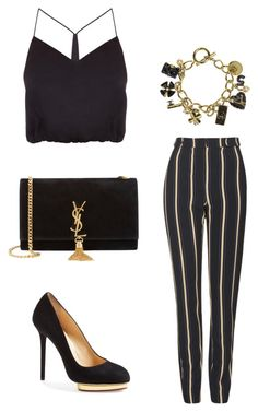Untitled #342 by nadiralorencia on Polyvore featuring polyvore fashion style Kendall + Kylie Topshop Charlotte Olympia Yves Saint Laurent Chanel clothing