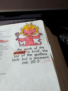 Bible journaling job 20