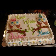 Iker torta, Twins birthday cake!!! @Lauren Miltenberg