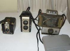 Vintage Brownie Hawkeye Compco Reflex II Polariod Camra Lot of 3 $3.99