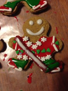 Gingerbread hockey player