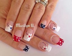 Cute nail designs for short nails nail designs for short nails 2019 full nail stickers nail art stickers at home nail stickers walmart nail art designs 2019 french tip nail designs for short nails best nail stickers nail appliques nail stickers walmart Really Cute Nails, Pretty Nails, French Nails, Usa Nails, Patriotic Nails, Almond Acrylic Nails, Nagel Gel, Flower Nails, Stylish Nails
