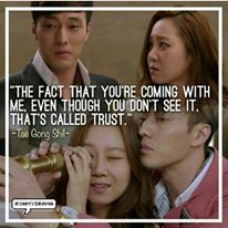 """""""The fact that you're coming with me, eventhough you dont see it. That's called trust"""" - Tae Gong Shil (Master's Sun)  Source : @ohmydrama  #the #fact #that #you #are #coming #with #md #eventhough #you #dont #see #it #that #is #called #trust #taegongshil #gonghyojin #sojisub #koreandrama #koreanactress #dramaquotes #dramakorea #koreandrama #ohmydrama #koreabasecamp"""