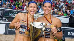 Besser geht es nicht. Laura Ludwig (links) mit Kira Walkenhorst.