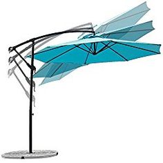 C Hopetree 10 Ft Adjustable Offset Cantilever Hanging Patio Umbrella, UV  Resistant, Water