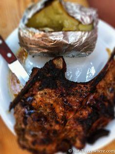 Pork Chop at kiki's tavern Mykonos