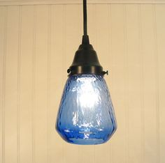 blue hill transparent blue pendant light by lampgoods on etsy 4900 usd via etsy blue pendant lighting