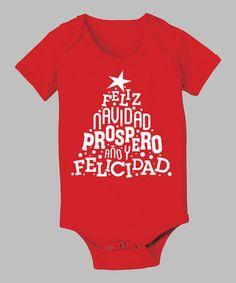 Look what I found on #zulily! Red 'Feliz Navidad' Tree Bodysuit - Infant #zulilyfinds