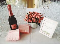 Pink Champagne Bubbles Bar! Pink Champagne Cake, Event Planning Tips, Catering Companies, Tablescapes, Bubbles, Bridesmaid, Events, Table Decorations, Bar
