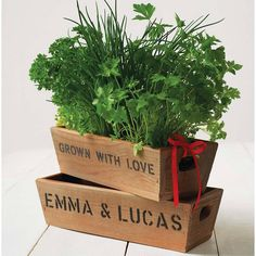 For the planted table decorations - cutlery to be a same box