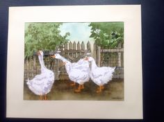 Geese. Watercolour. For Lily.