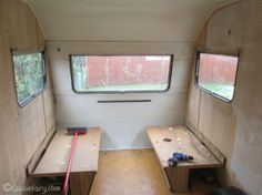 Vintage caravan makeover project on Cassiefairy blog - the clearing out process