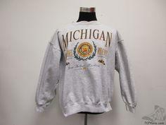 Vtg 90s Galt Crew Michigan Wolverines Crewneck Sweatshirt sz L Large University Vintage by TCPKickz on Etsy