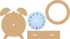 460.440.240 Dutch Doobadoo MDF Art Clock