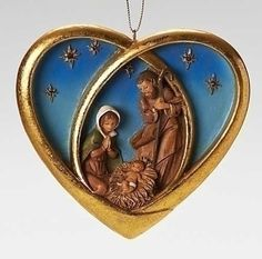 inch heart with the Holy Family is made of resin. Product Features Fontanini Heart with Holy Family Ornament Fontanini Collection Made in Italy Made of resin Nativity Ornaments, Family Ornament, Christmas Tree Ornaments, Magical Christmas, Merry Christmas, Angel Cards, Holy Family, Branding Design, Holiday Decor