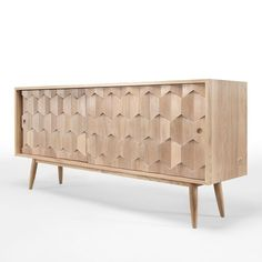 Contemporary sideboard Scarpa handcrafted from solid oak. The sideboard has been designed by Protuguese designers from WeWood Design Center. Recycled Furniture, Wood Furniture, Modern Furniture, Furniture Design, Sideboard Cabinet, Joinery, Furniture Making, Interior Decorating, Buffets