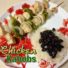 EmilyCanBake: Marinated, Oven-baked Chicken Kabobs
