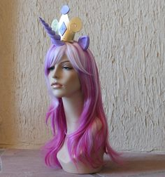 Princess Cadence costume cosplay wig - purple white pink wig / my little pony / unicorn / friendship is magic. $160.00, via Etsy.