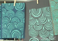 Müllerin Art: Siebdruck-Welle (Muster-Mittwoch 168) Diy Projects To Try, Diy Crafts, Prints, Design, Blog, Inspiration, Paper, Dyeing Fabric, Wave