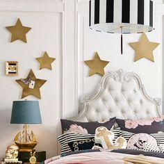 Emily + Meritt Gold Star Magnets | PBteen