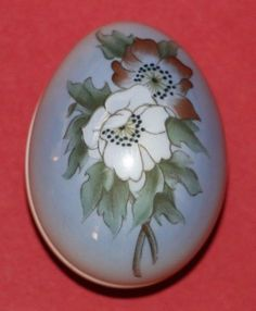 Bing & Grondahl Porcelain Egg Shaped Trinket Box ~ gift ~ Limited Edition #2453 #babescollectibles