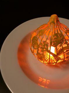 曲面立体切り絵 ポトフ 濱直史 3D paper cutting light