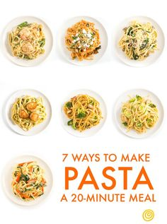 Your Template for a Quick Pasta Dinner, 7 Delicious Ways — 20-Minute Meals | The Kitchn - A basic method with 7 variations.