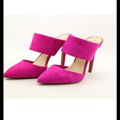 JESSICA SIMPSON MULES Jessica Simpson mules in Spring Magenta color. Get your sexy own for the summer. Heel height about Jessica Simpson Shoes Heels Mules Shoes, Heeled Mules, Women's Shoes, Fashion Shoes, Fashion Tips, Fashion Trends, Jessica Simpson Shoes, How To Make Shoes, Girls Shoes