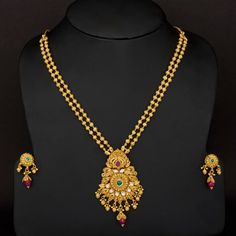 Traditional long two layer Gundla haram design - Latest Jewellery Designs