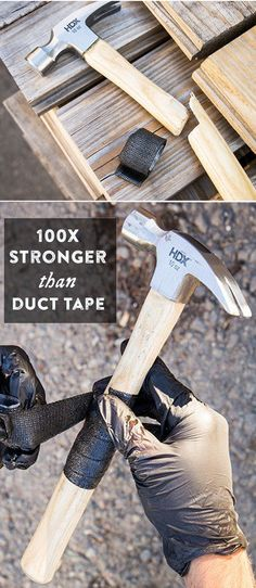 Fix almost anything. FiberFix is a fiberglass-based repair tape that is 100x stronger than duct tape.