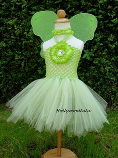 Fairy Princess Tinkerbell  inspired tutu dress with  fairy wings perfect for Halloween,birthday parties or dress up fits sizes NB-24months