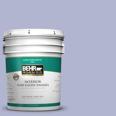 BEHR Premium Plus 5-gal. #620C-3 Purple Surf Zero VOC Semi-Gloss Enamel Interior Paint