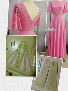 adding fullness to a skirt pattern Long Dress Patterns, Dress Sewing Patterns, Clothing Patterns, Fabric Sewing, Skirt Patterns, Fabric Yarn, Blouse Patterns, Kleidung Design, Diy Kleidung
