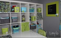 craft room bins