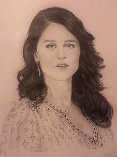 Drawing of Robin Tunney. Eigen-Art's Celebrity Portraits. #drawing #drawings #celebrity #RobinTunney #art #beauty