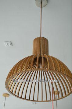 Pas cher Mode moderne suspension bricolage IKEA en bois led E27
