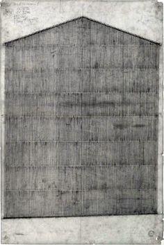 Drawing. House Z or Atelier Zumthor | Peter Zumthor's Home-Studio, Haldenstein, Switzerland. 2002- 2004