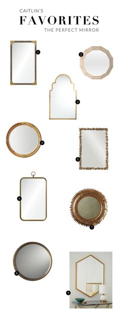 Caitlin Wilson | Caitlin's Favorites: Mirrors
