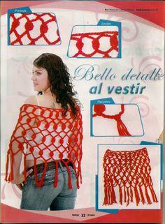 Chal Puntadas Intercaladas Patron - Patrones Crochet