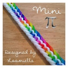 Mini Pi by @loomiella in opaque white and jellies. #officialrainbowloom #rainbowloom #loombands #loomineer