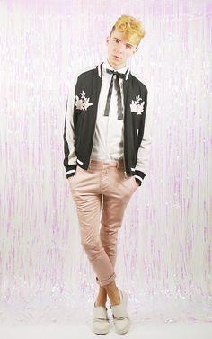 Luke Heywood - Primark Souvenir Jacket, Self Made Bow, Asos White Shirt, Asos Trousers - S-o-u-v-e-n-i-r