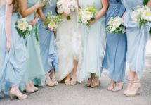 Bridesmaids in Blue | On Style Me Pretty | | Photography: Emily Steffen