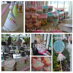Great tutorials for a sweet shope birthday party