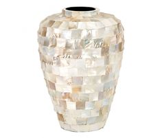 Mother of Peal Ceramic Inlay Vase.--could DIY