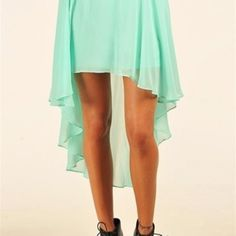 High and low skirt