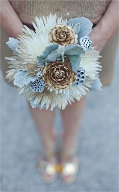 metallic wedding bouquet