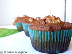 La Cazuela Vegana: Muffins integrales de calabaza y canela