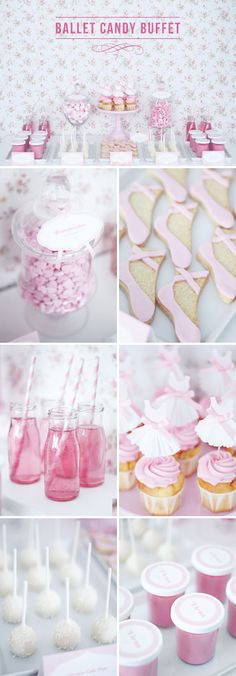 This is such a sweet idea for girls party. Everything about this says innocent and pretty, perfect for the little ballerina& out there. The post Tres mesas de dulces para inspirarse (Holamama) appeared first on Food Monster. Ballerina Party, Ballerina Birthday Parties, Girl Birthday, Baby Party, Baby Shower Parties, Girls Party, Decoration Buffet, Festa Party, Cupcakes